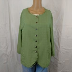 Christopher & Banks button down top size large